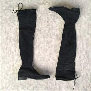Public Desire Over The Knee Faux Sude Boots